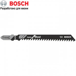 Bosch Basic for Wood Пилки для лобзика 5шт, T111С, быстрый пропил 2608630033